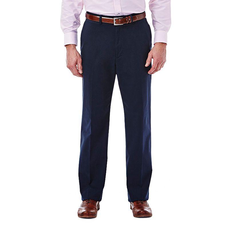 Men's Haggar Expandomatic Stretch Classic-Fit Comfort Compression Waist Twill Pants