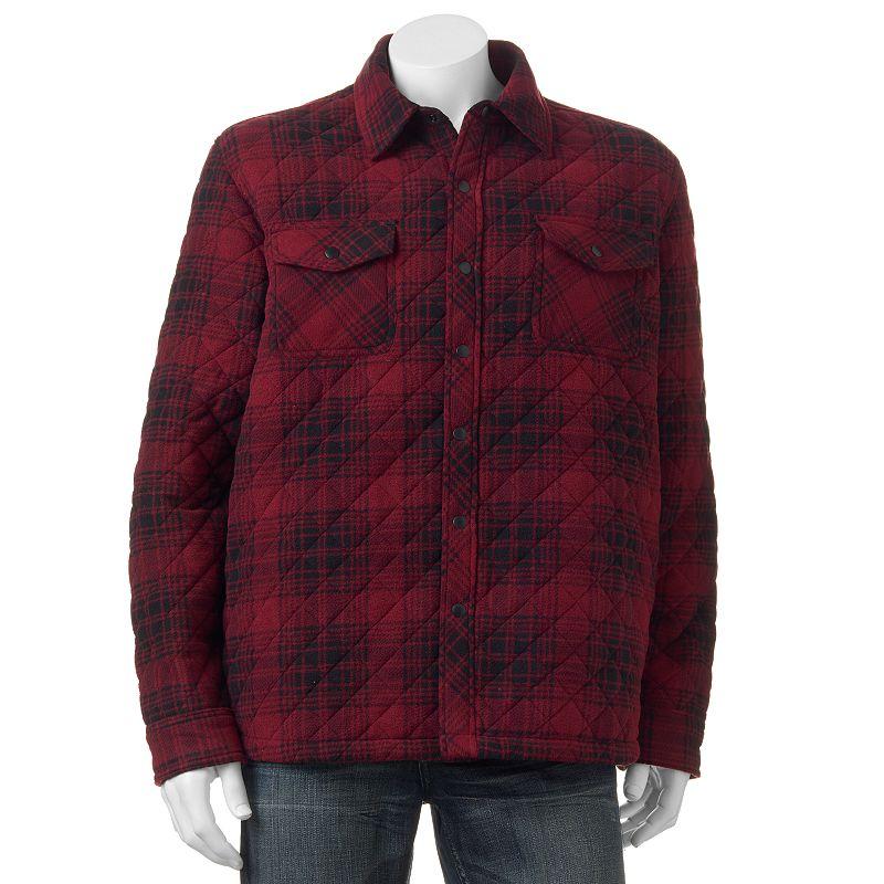 Men's Hemisphere Modern-Fit Plaid Fleece Shirt Jacket
