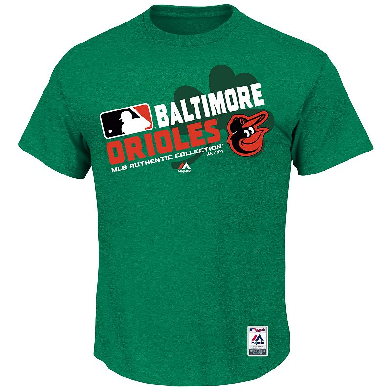 Men's Majestic Baltimore Orioles Celtic AC Team Property Tee