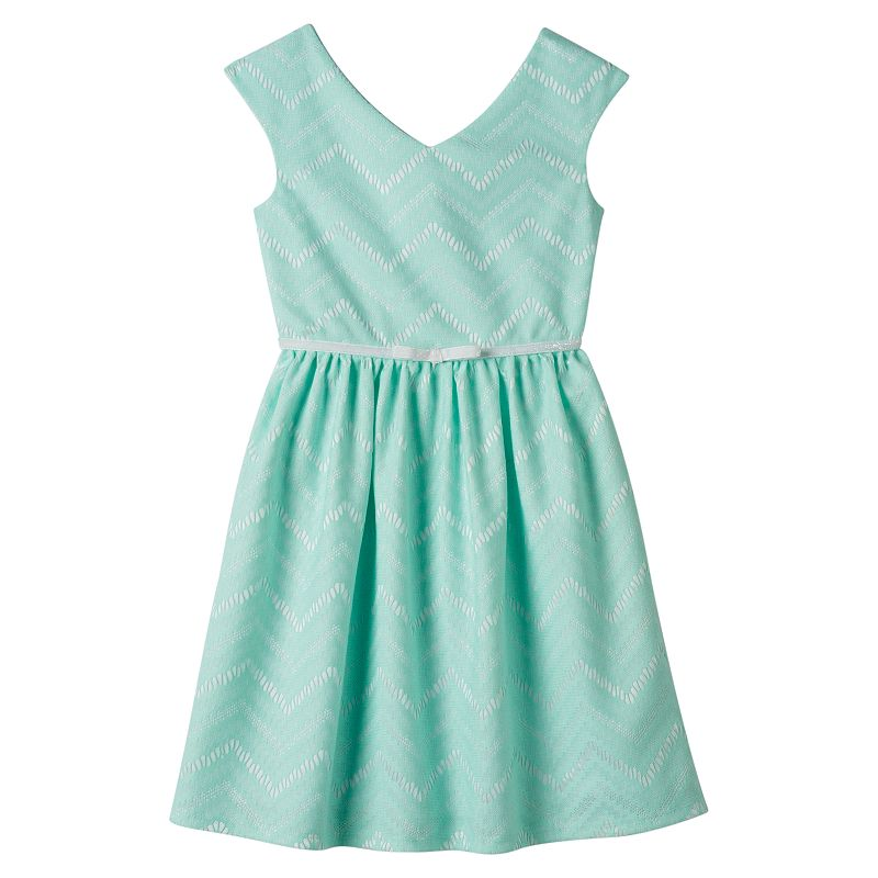 Girls 7-16 Speechless Chevron Skater Dress