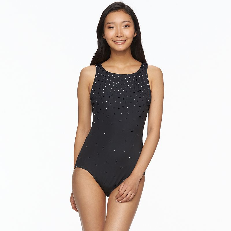 Women's Great Lengths Tummy Control High-Neck One-Piece Swimsuit