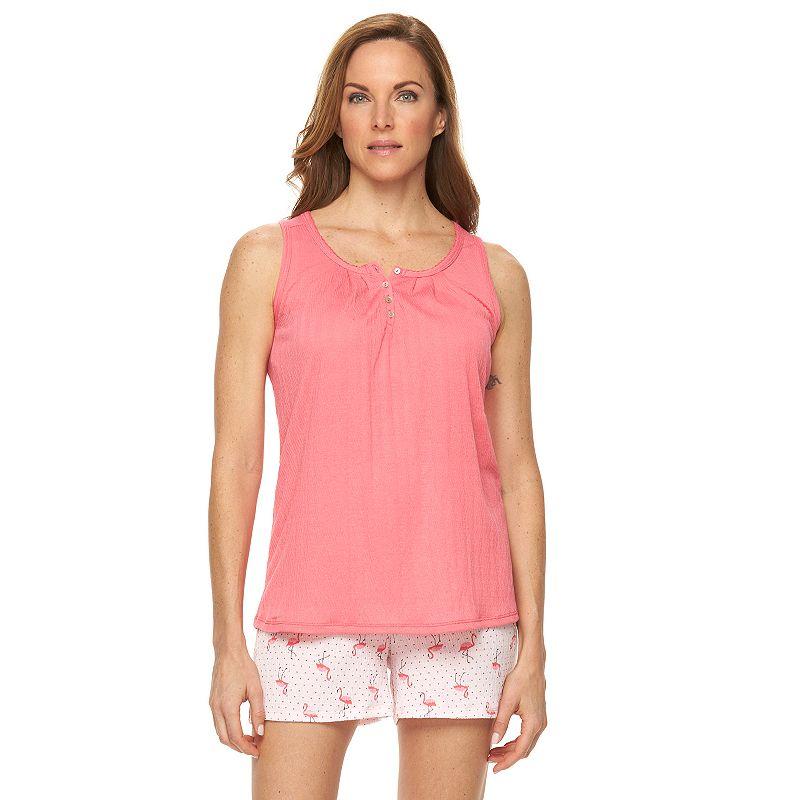 Women's Croft & Barrow® Pajamas: Knit Gauze Tank & Shorts Pajama Set