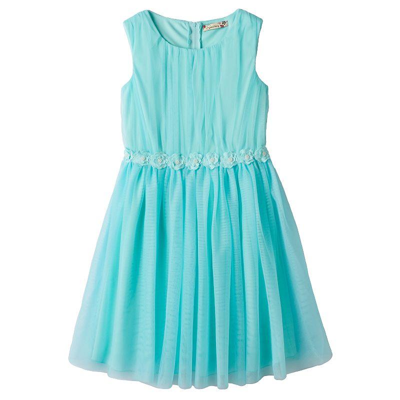 Girls 7-16 Speechless Mesh Flower Dress