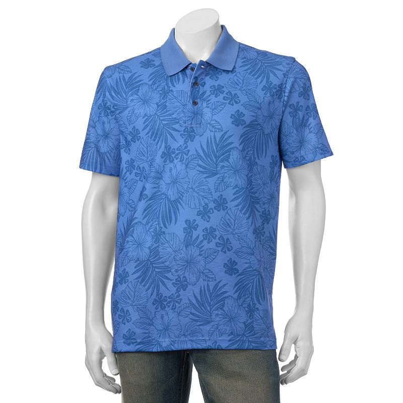 Men's Bahama Bay Club Tropical Floral Printed Polo