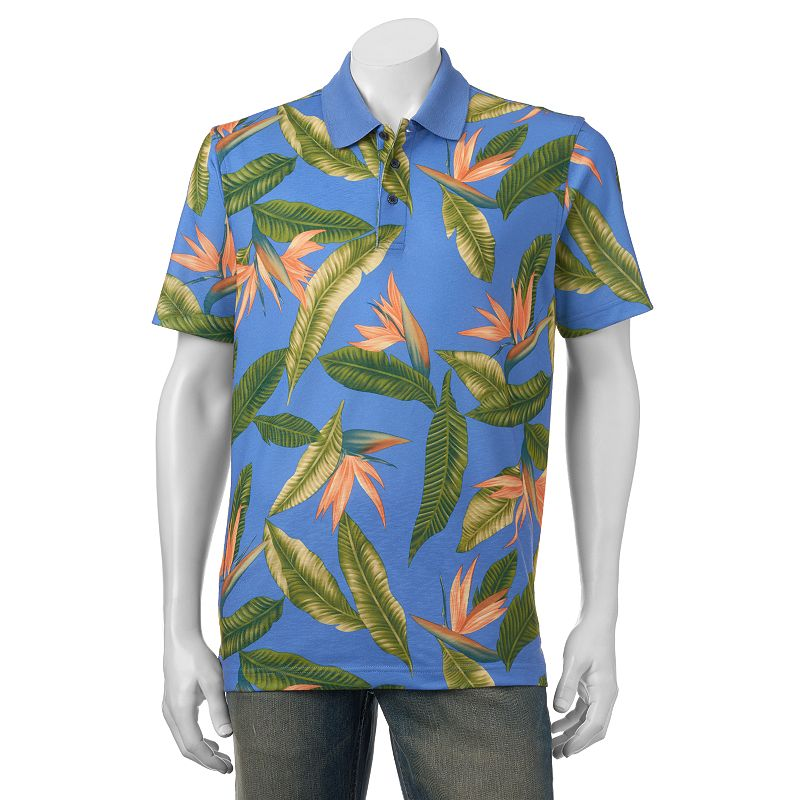 Men's Bahama Bay Club Tropical Multicolor Printed Polo