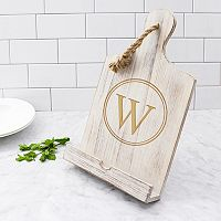 Cathy's Concepts Monogram White Recipe Stand