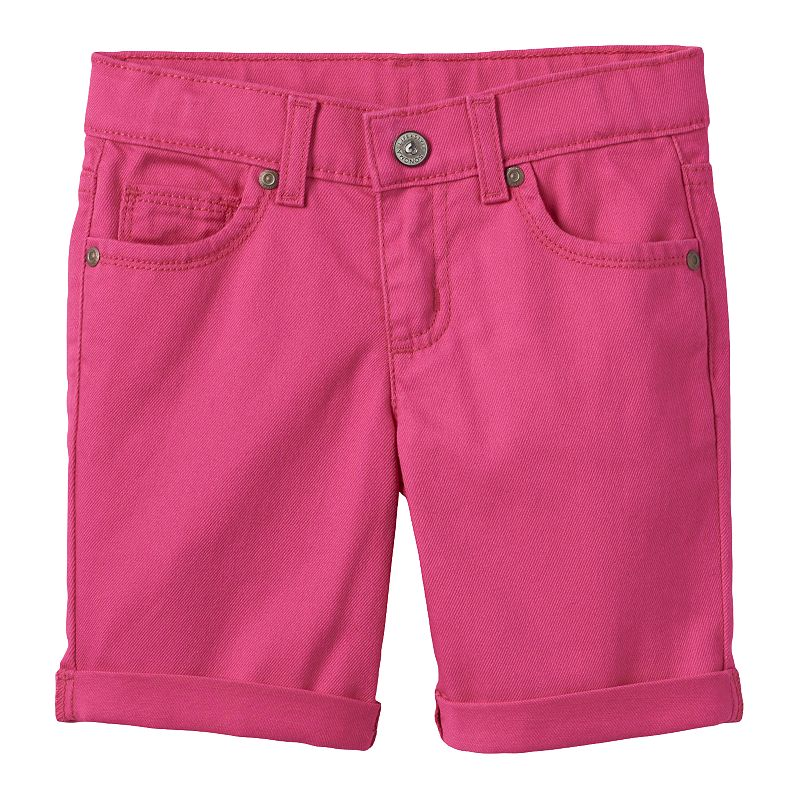 Girls 4-7 SONOMA Goods for Life™ Cuffed Pink Bermuda Shorts