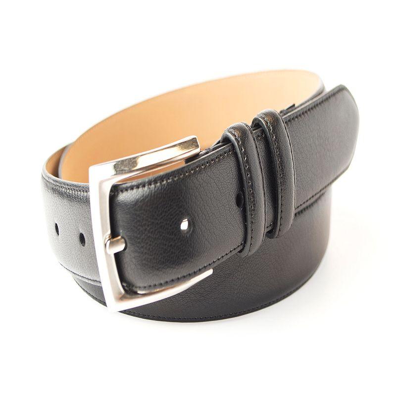 Men's Croft & Barrow® Feather Edge Stitched Double-Loop Dress Belt