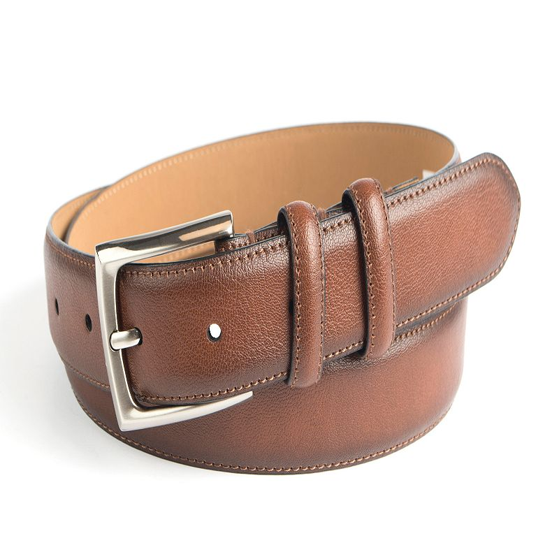 Men's Croft & Barrow® Feather Edge Stitched Double-Loop Dress Belt