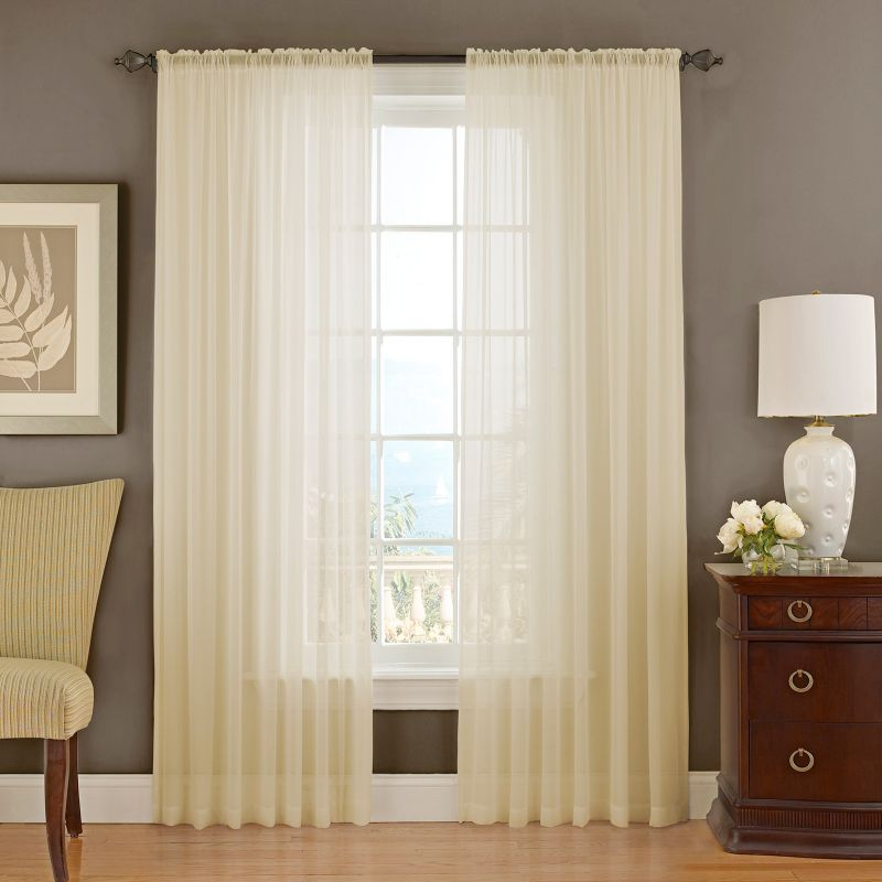 Vue signature textured chiffon sheer curtain