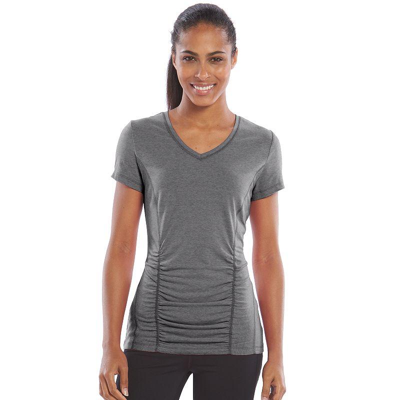 Women's Tek Gear® Shirred Workout Tee