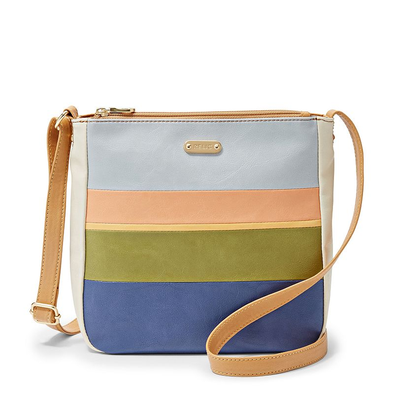 Relic Cameron Colorblock Stripe Crossbody Bag