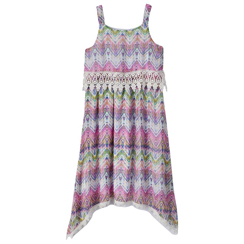 Girls 7-16 Speechless Mock Layer Crochet Dress