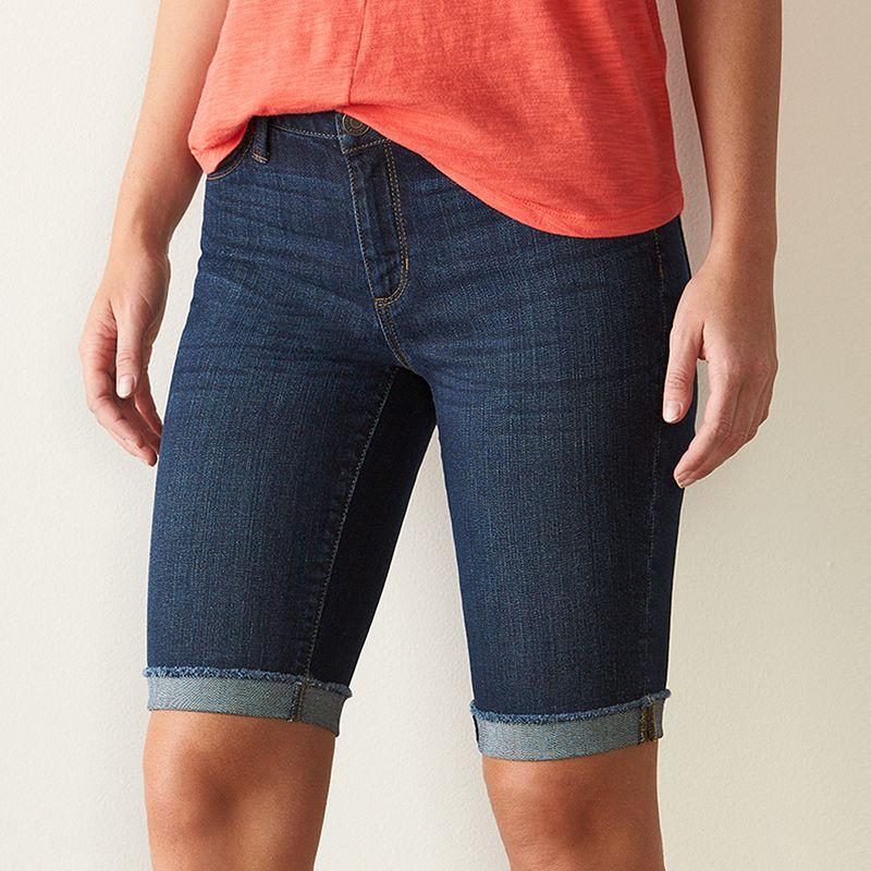 Women's SONOMA Goods for Life™ Skinny Bermuda Jean Shorts