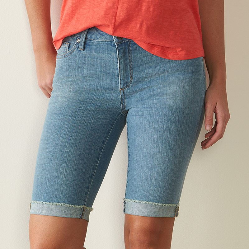Women's SONOMA Goods for Life™ Skinny Bermuda Jean Shorts