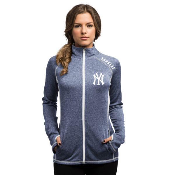 Women's Majestic New York Yankees Dream of Victory Full-Zip Top