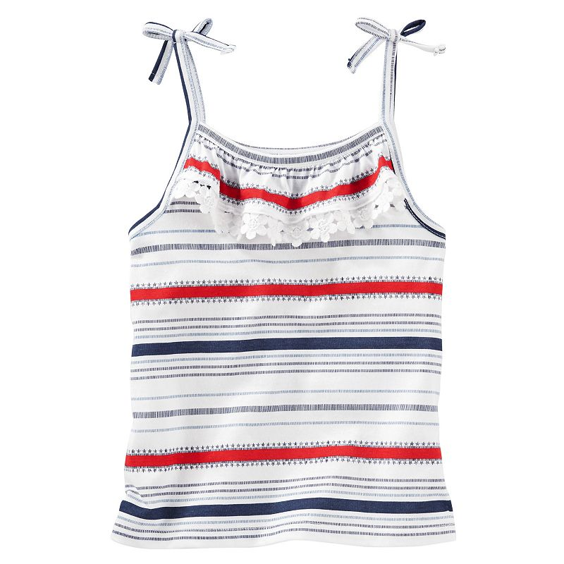 Girls 4-6x OshKosh B'gosh® Patriotic Stars & Stripes Ruffle Tank