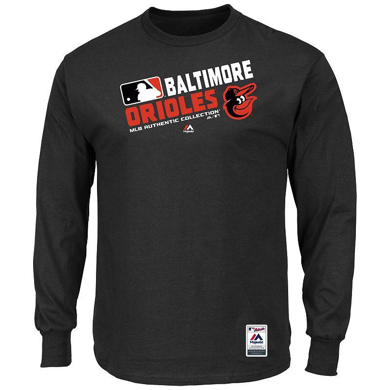 Men's Majestic Baltimore Orioles AC Team Choice Long-Sleeve Tee