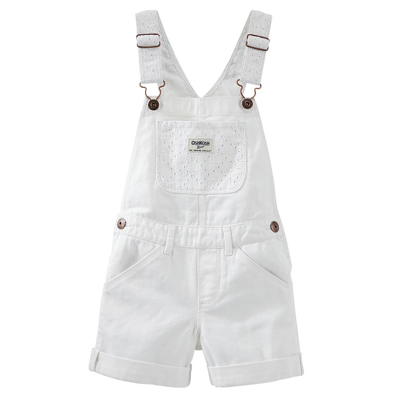 Girls 4-6x OshKosh B'gosh® Eyelet Lace Twill Shortalls