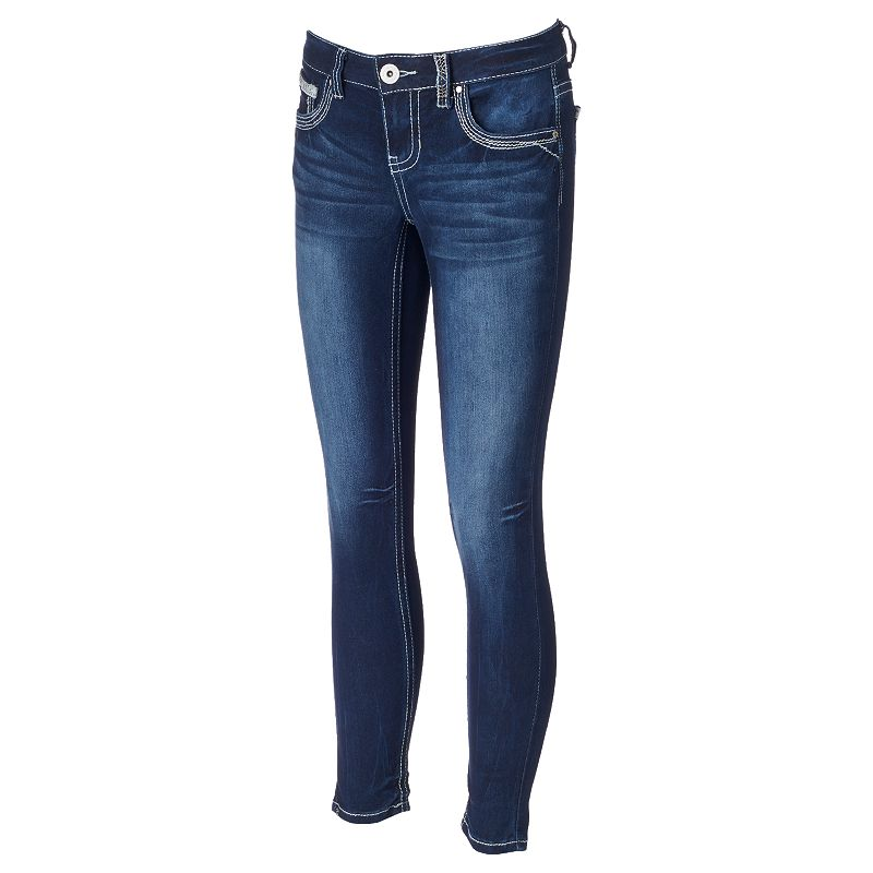 Juniors' Series 31 Stitched Short Skinny Jeans