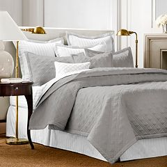 Click here to buy Chaps Damask Quilted Coverlet Set.