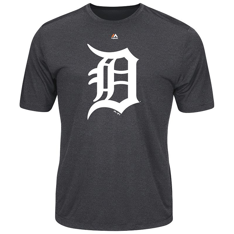 Men's Majestic Detroit Tigers Official Logo Synthetic Tee