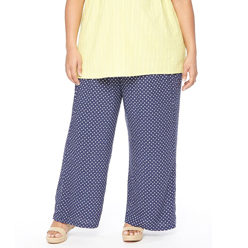 Plus Size Maternity Oh Baby by Motherhood™ Secret Fit Belly™ Printed Soft Pants