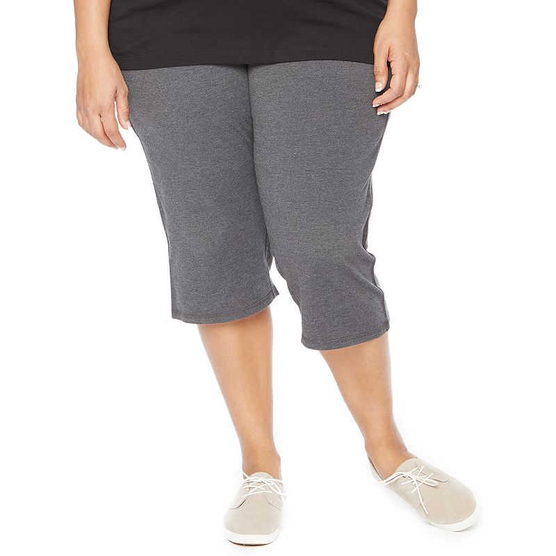 Plus Size Maternity Oh Baby by Motherhood™ Secret Fit Belly™ Cropped Yoga Pants