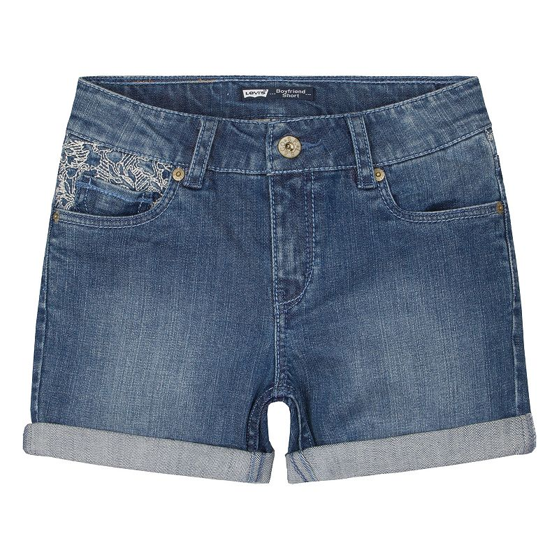 Girls 7-16 Levi's Lace Embroidered Boyfriend Shorts