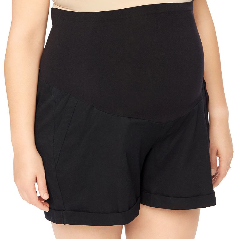 Plus Size Maternity Oh Baby by Motherhood™ Secret Fit Belly™ Cuffed Shorts