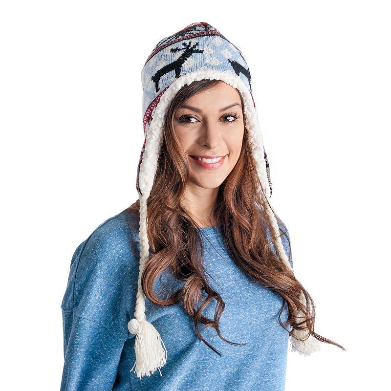 MUK LUKS Women's Nordic Reindeer Tassel Hat