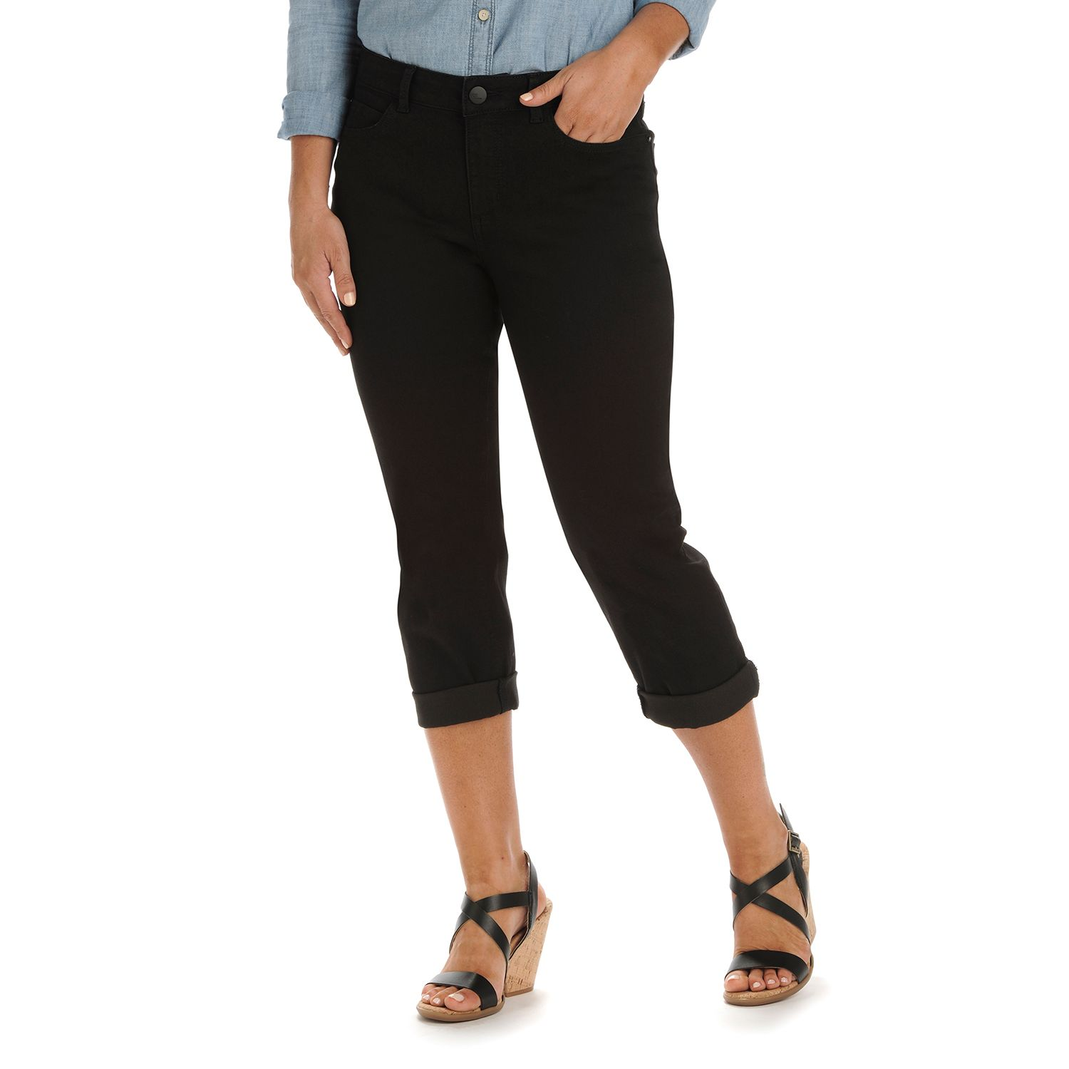 Black Denim Capris - The Else