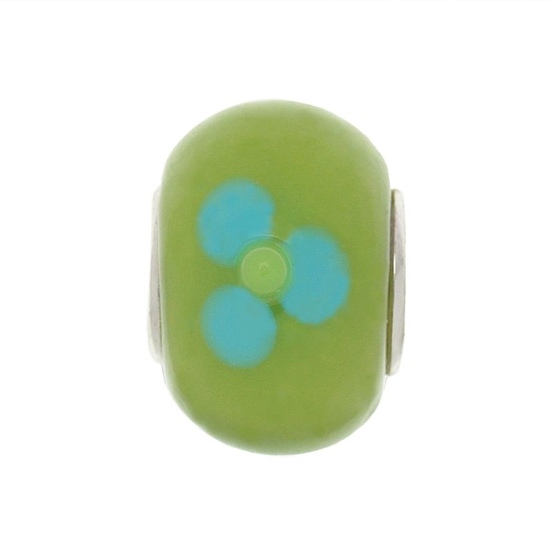 Individuality Beads Sterling Silver Glass Floral Bead