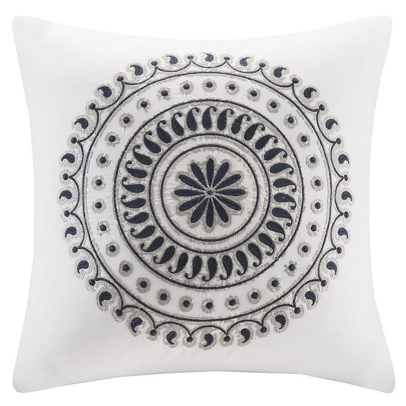 INK+IVY Fleur Embroidered Throw Pillow