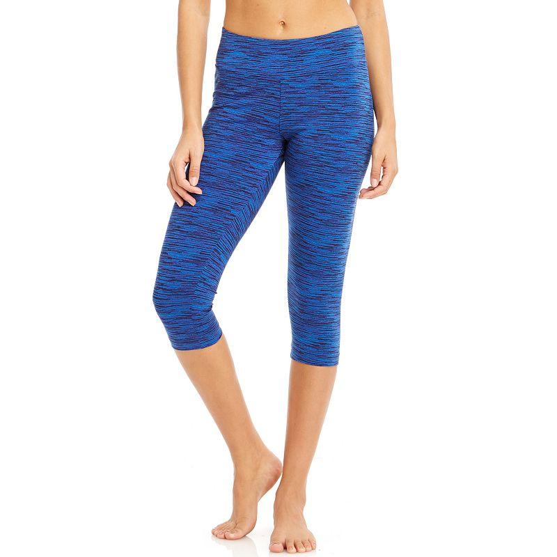 Women's Bally Total Fitness Space-Dye Capri Workout Leggings