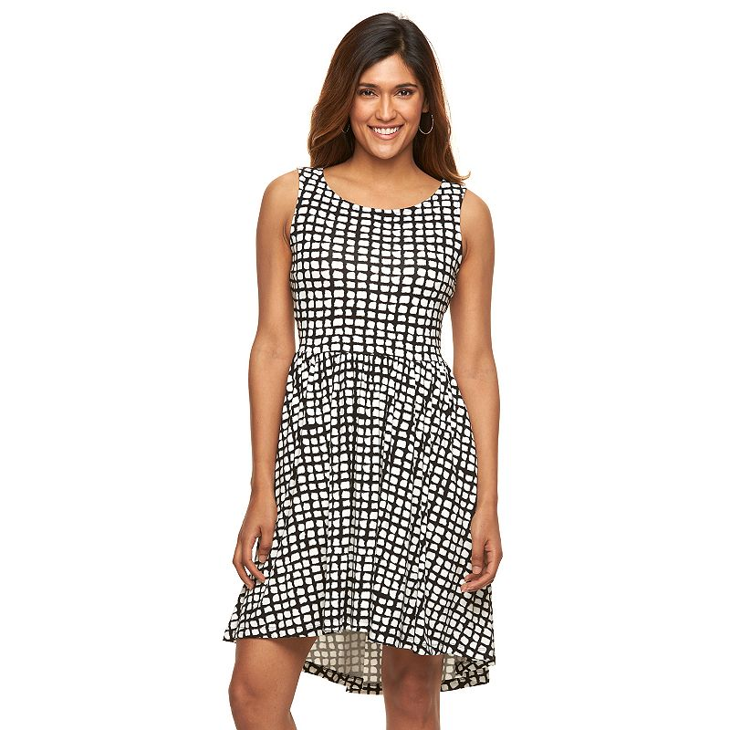 Petite Apt. 9® Print Fit & Flare Dress