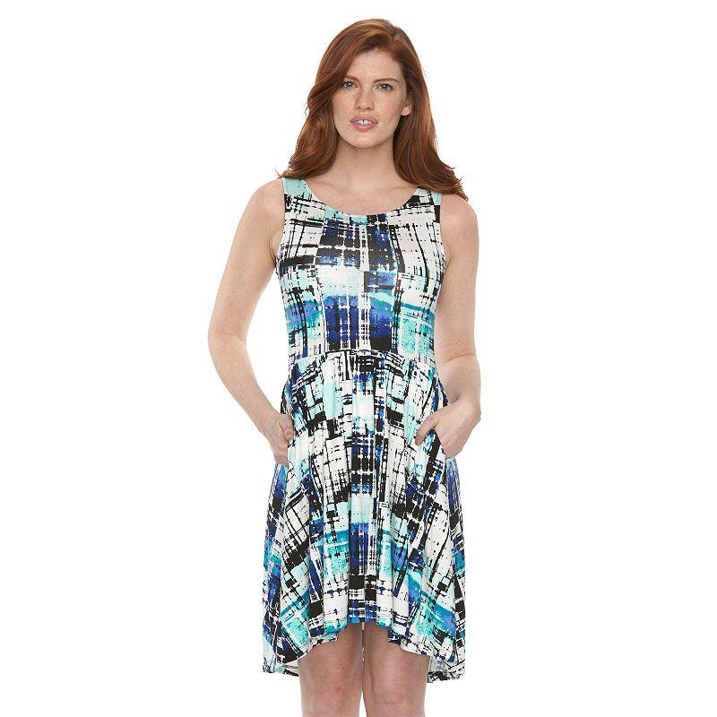 Petite Apt. 9® Print Fit & Flare Dress