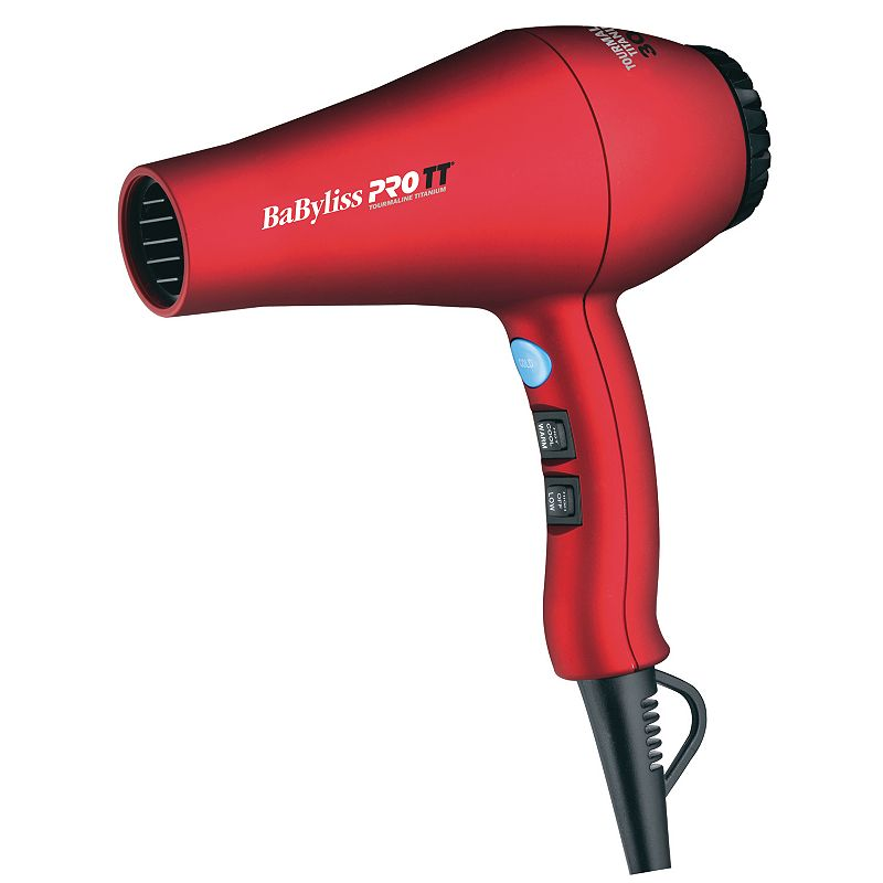 BaByliss Pro TT Tourmaline Titanium 3000 Hair Dryer, Red