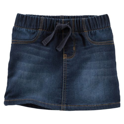 Toddler Girl OshKosh B'gosh® Faux-Knit Pull-On Denim Skirt
