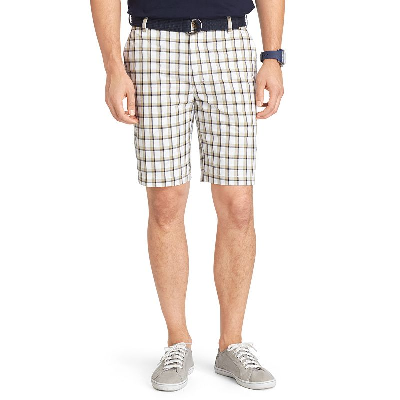 Men's IZOD Classic-Fit Plaid Belted Shorts