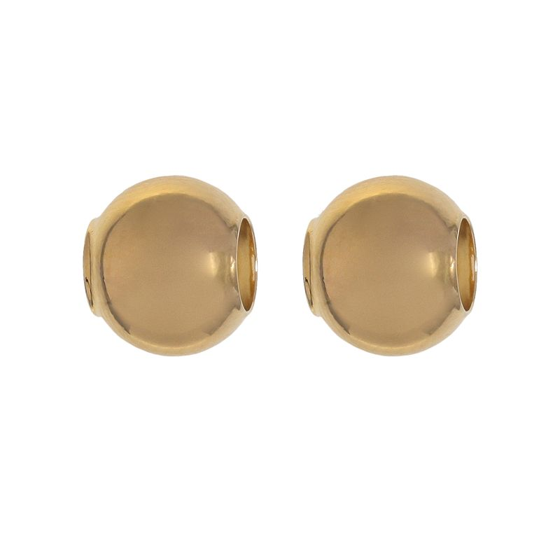 Individuality Beads 24k Gold Over Silver Round Bead Set