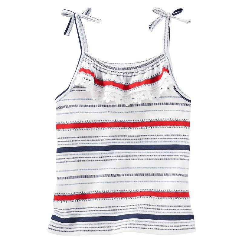 Toddler Girl OshKosh B'gosh® Patriotic Stars & Stripes Ruffle Tank