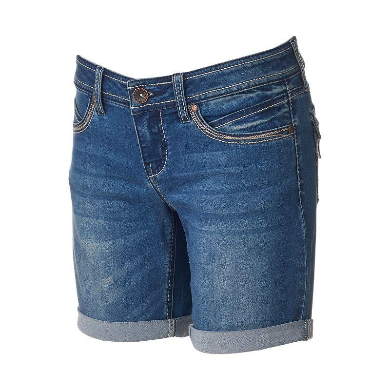 Juniors' Hydraulic Bailey Roll-Cuff Bermuda Shorts