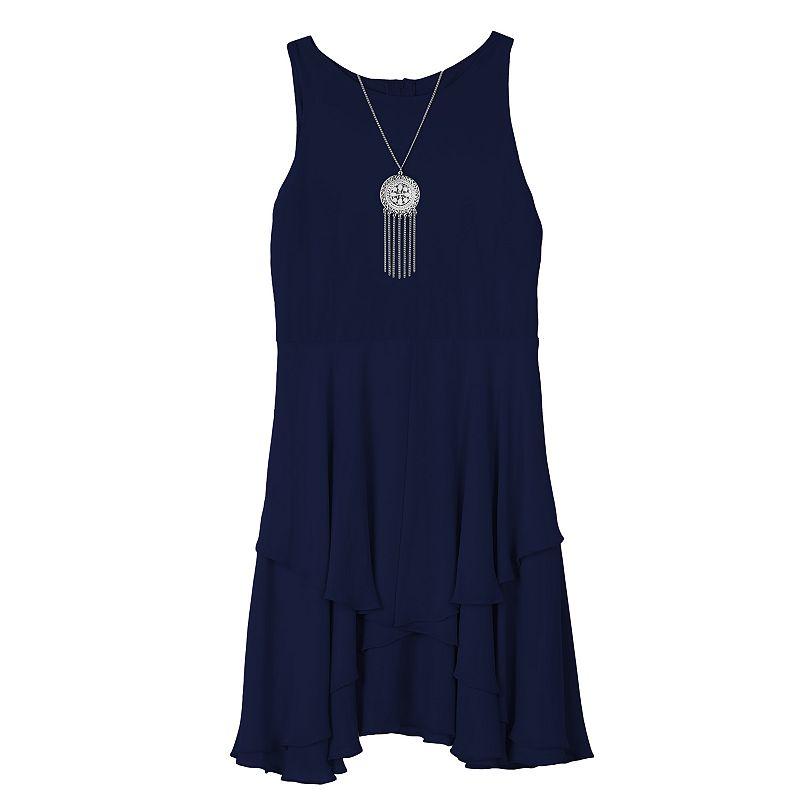 Girls 7-16 IZ Amy Byer Racerback Ruffle Dress