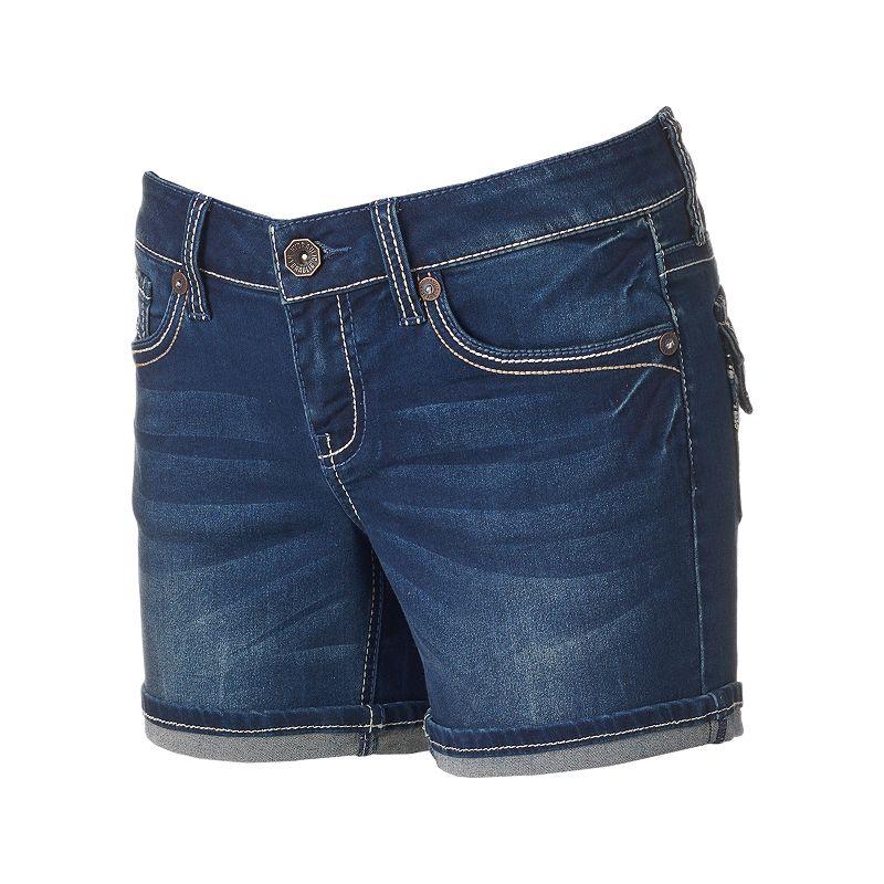 Juniors' Hydraulic Lola Curvy Midi Shorts