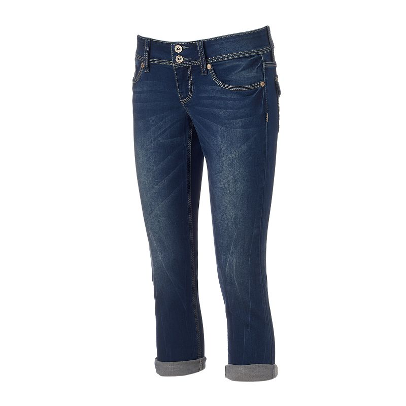 Juniors' Hydraulic Bailey Button-Flap Capris
