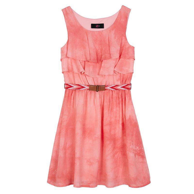 Girls 7-16 IZ Amy Byer Ruffled Watercolor Dress