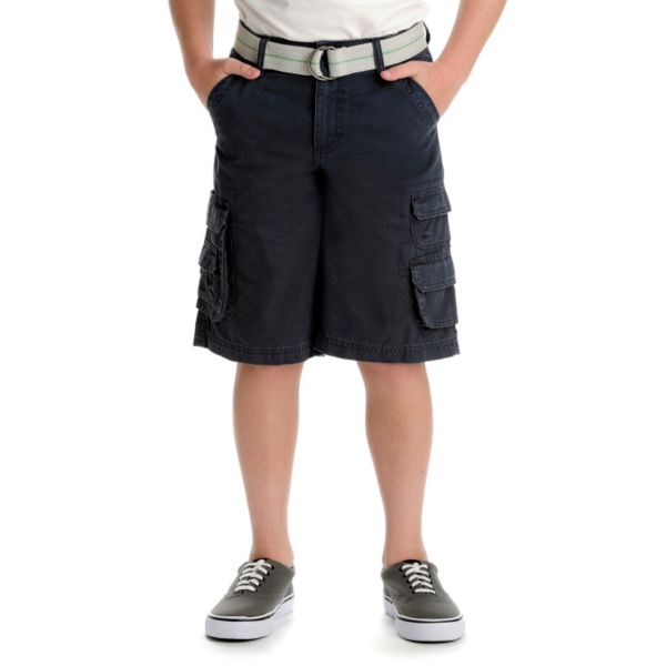 Boys 8-20 Lee Wyoming Solid Twill Loose-Fit Cargo Shorts