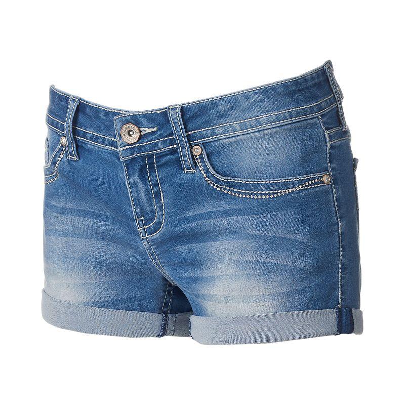 Juniors' Hydraulic Bailey Roll-Cuff Shortie Shorts