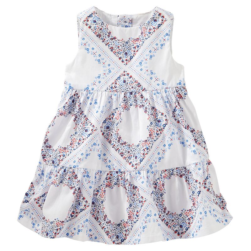 Baby Girl OshKosh B'gosh® Diamond Floral Print Dress